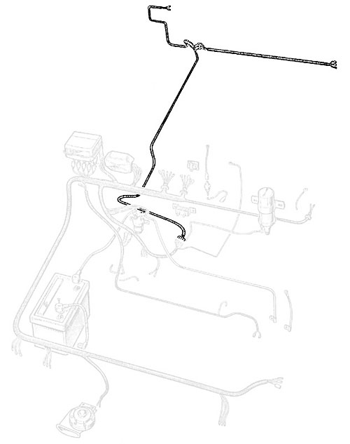 Wire Harness - Frame-rear Series Iia 109 U0026quot  Rear Tank  Rnc393  560901