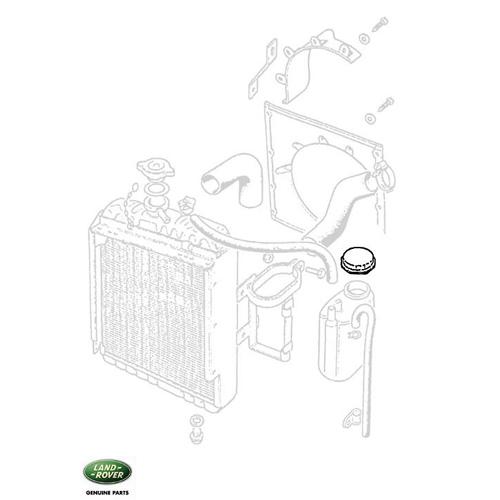 cap coolant overflow bottle series iia  u0026 iii  rnc431