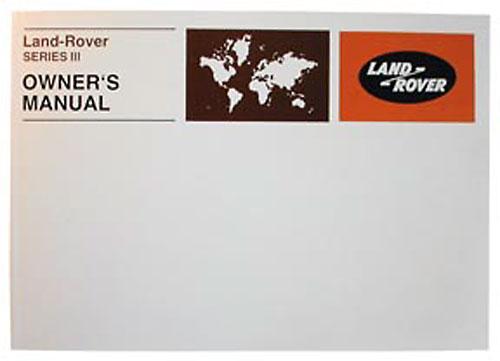 OWNERS MANUAL SER III 1972-1981