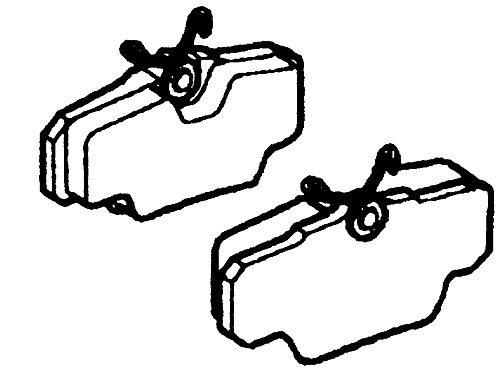 BRAKE PADS FRONT AXLE SET - GENUINE