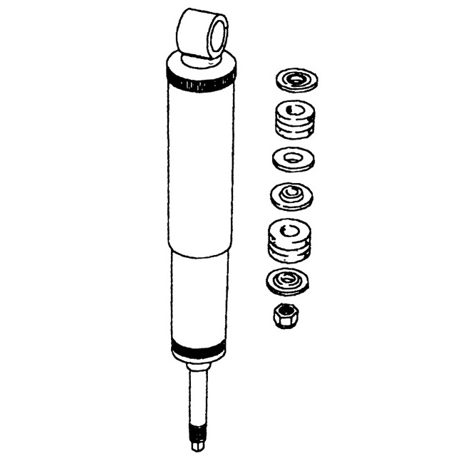 REAR SHOCK ABSORBER - DISCOVERY I