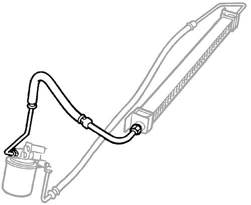HOSE - ENGINE/OIL COOLER - RANGE ROVER P38A TO WA410481 V8 1995-1998