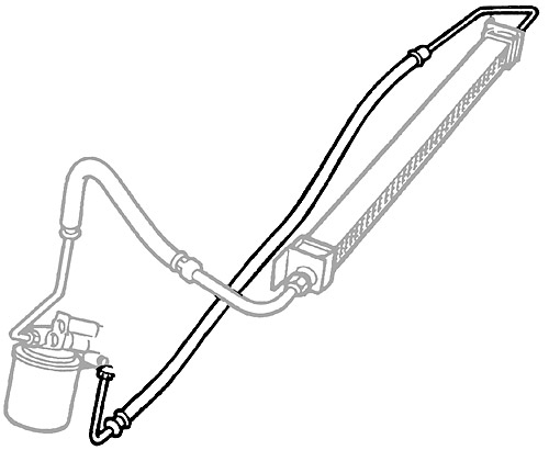 PIPE - OIL COOLER RETURN P38A RANGE ROVER TO WA410481