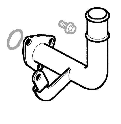ELBOW - ENGINE COOLANT OUTLET