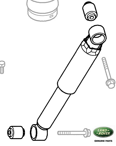 SHOCK ABSORBER REAR AXLE DISCOVERY II w/o ACE w/AIR SUSPENSION