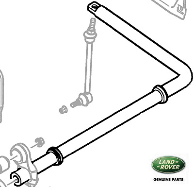 TORSION BAR ASSEMBLY REAR AXLE DISCOVERY II WITH ACTIVE CORNERING ENHANCEMENT