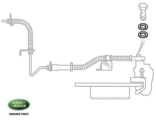 SEALING WASHER - BRK HOSE P38A R/R & DISCOVERY II