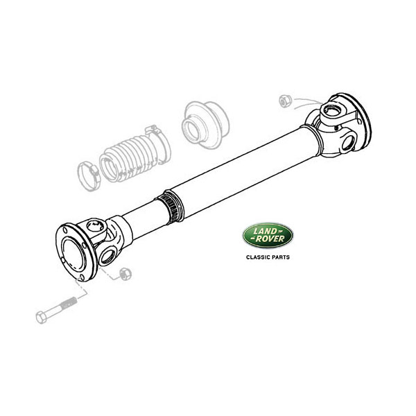 PROP SHAFT - FRONT NAS 90 DEF, DISCOVERY I & RANGE ROVER