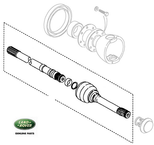 HALF SHAFT & CV JOINT  RH DEFENDER 90 & DISCOVERY