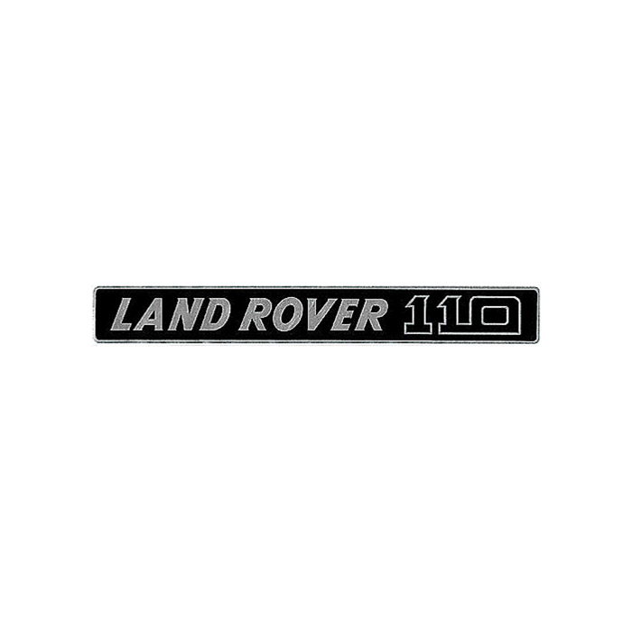 "DECAL - ""LAND ROVER 110"" FRONT SILVER/BLACK"