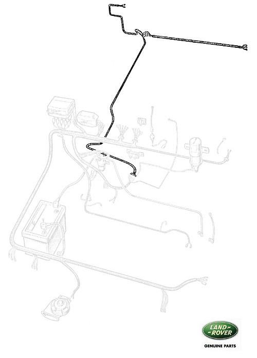 wire harness rear 88 u0026quot  series iii w  rear  rne491  prc2671