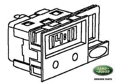 CLOCK - DIGITAL-LCD SILVER w/o HAZ SWITCH DISCOVERY I
