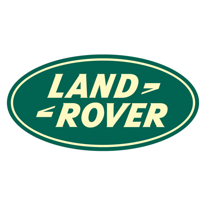 """DECAL """"LAND ROVER"""" OVAL 16"""" x 8"""""""