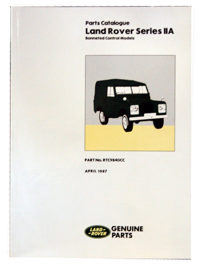 PARTS MANUAL SERIES IIA