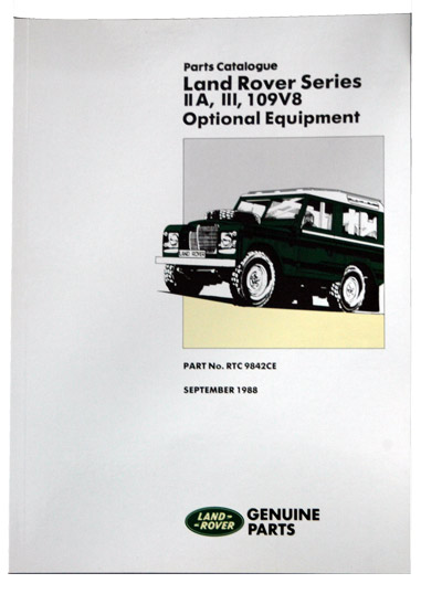 PARTS MANUAL - SERIES IIA, III, 109 V8 - OPTIONAL EQUIPMENT