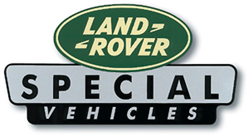 Land Rover Special Vehicles Sticker 4 Quot X 2 1 4 Quot Rnf364