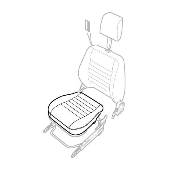 COVER - FRONT SEAT BOTTOM DEFENDER DARK GRANITE