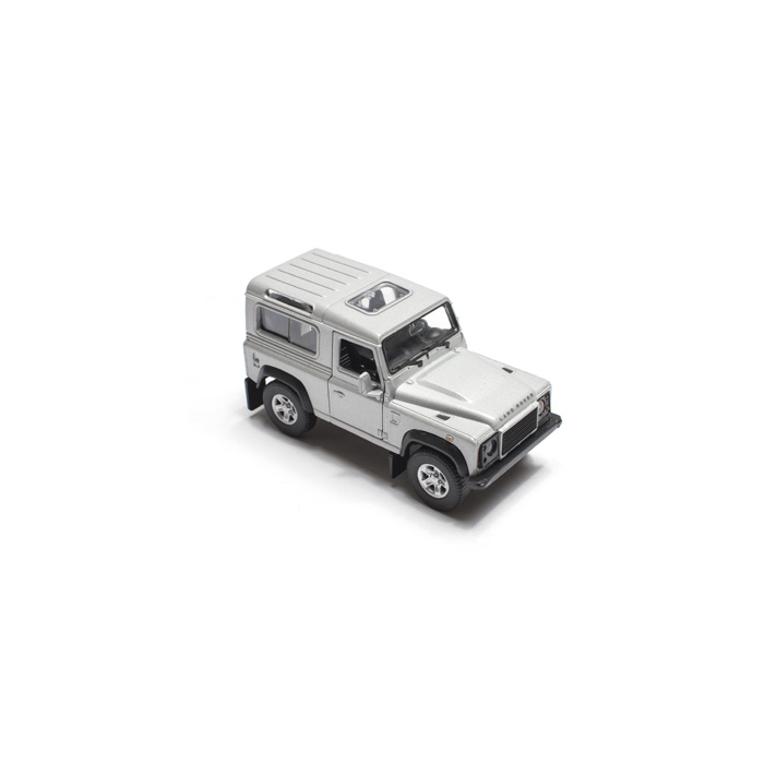 """4.75"""" LAND ROVER DEFENDER 90 SILVER BY WELLY"""