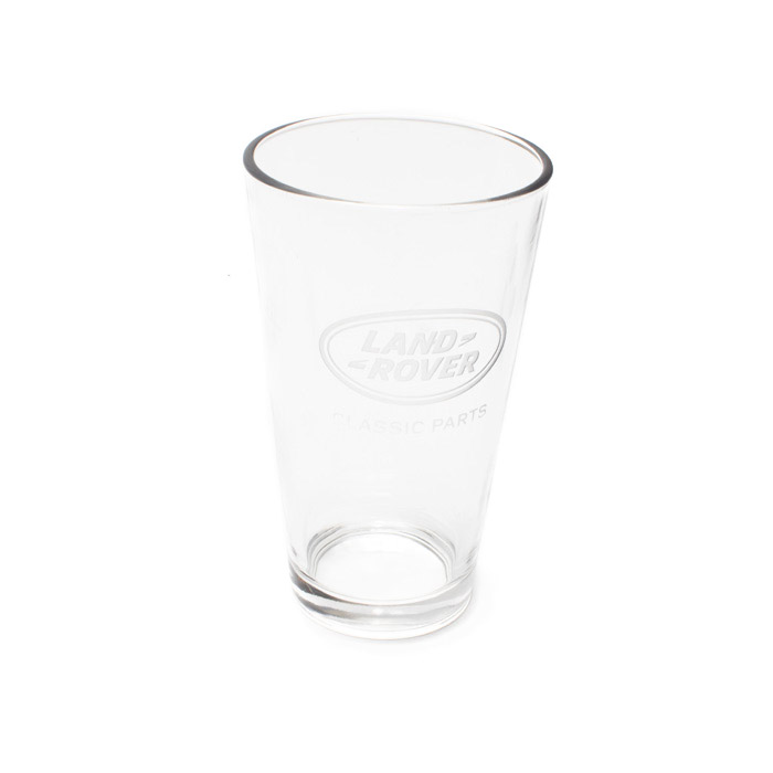 PINT GLASS ETCHED w/LAND ROVER CLASSIC PARTS LOGO