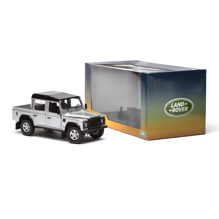 MODEL DEFENDER 110 PICK UP DOUBLE CAB 1:18 SCALE SILVER
