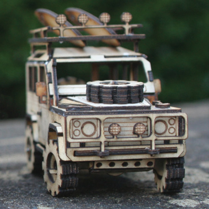 Mini Wooden Model Kit Defender 90 Rovers North Land Rover Parts