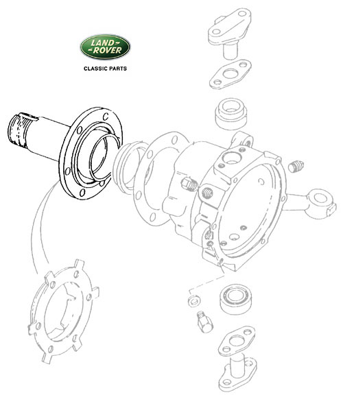 SPINDLE FRONT AXLE RANGE ROVER CLASSIC