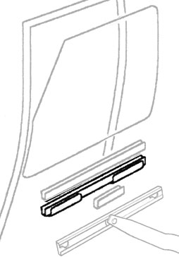 CHANNEL  FRONT DOOR GLASS LIFT DISCOVERY I