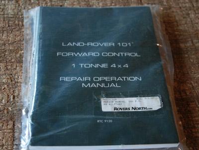 REPAIR MANUAL  101 FORWARD CONTROL EX MILITARY