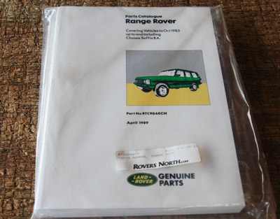 PARTS MANUAL - RANGE ROVER CLASSIC