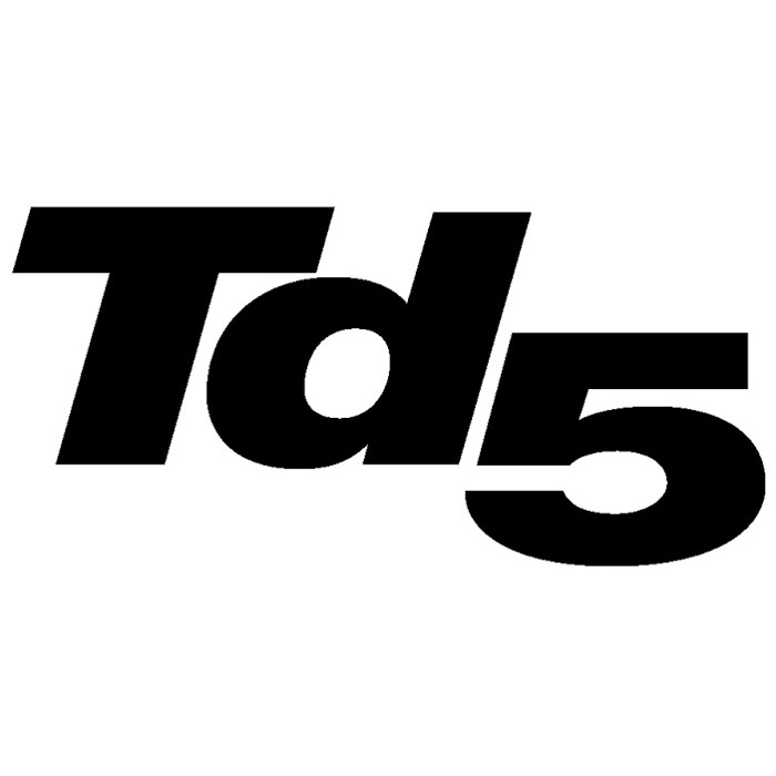 "DECAL ""Td5"" FRONT WING DEFENDER CHARCOAL"