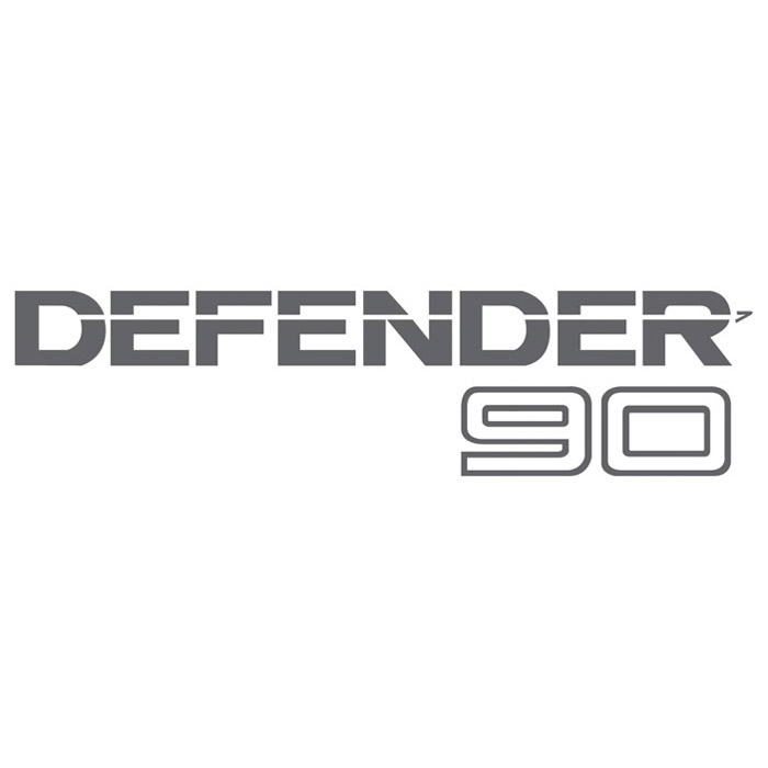 Decal Quot Defender 90 Quot Rear Silver Clear Rni567 Btr1048