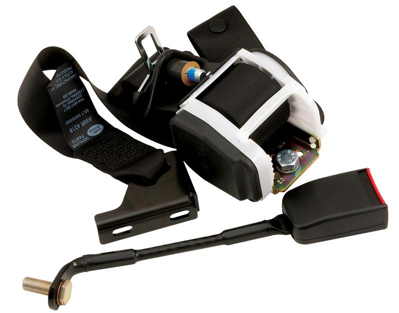SEAT BELT KIT RIGHT HAND FRONT INERTIA SHOULDER HARNESS DEFENDER w/WHITE PLASTIC ON REEL