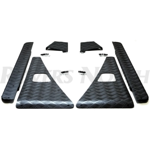 VEHICLE KIT 5 BAR CHEQUER PLATE DEFENDER 90  BLACK