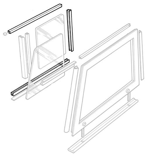 WINDOW TRACK KIT FRONT DOOR TOP: SERIES II-III