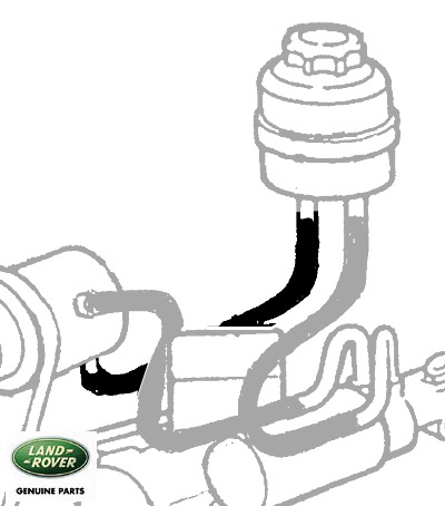 HOSE - RESERVOIR TO STEERING PUMP - DISCOVERY I 1994-99