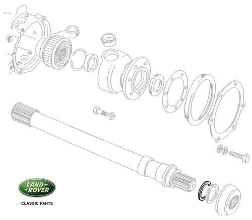 SHIM AXLE SHAFT 0.75mm DEF, RRC & DI