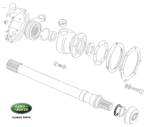 SHIM - AXLE SHAFT 0.90MM - DEFENDER, RRC & DI