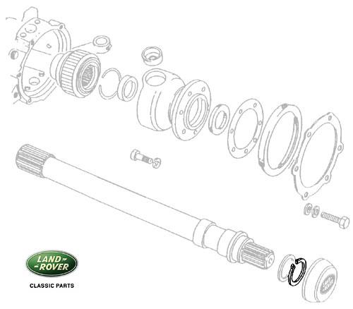 CIRCLIP AXLE SHAFT-HUB DRIVE FLANGE RRC, DEFENDER & DI