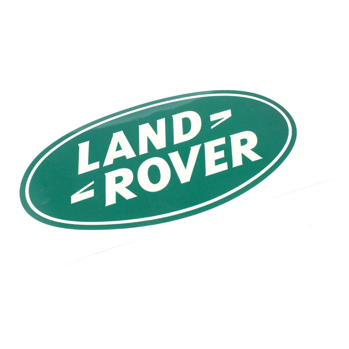 "DECAL ""LAND ROVER"" OVAL 8"" x 4"""