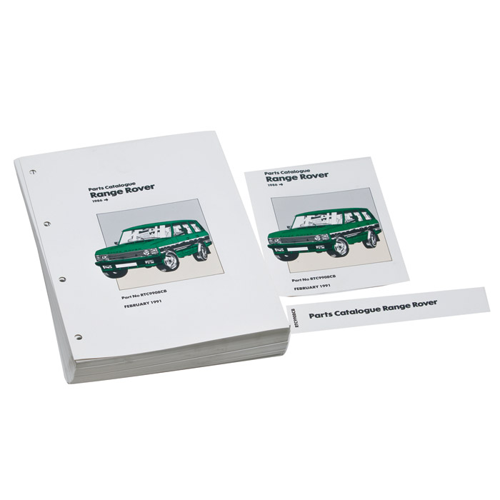 INSERT PARTS MANUAL 1986-91 RANGE ROVER