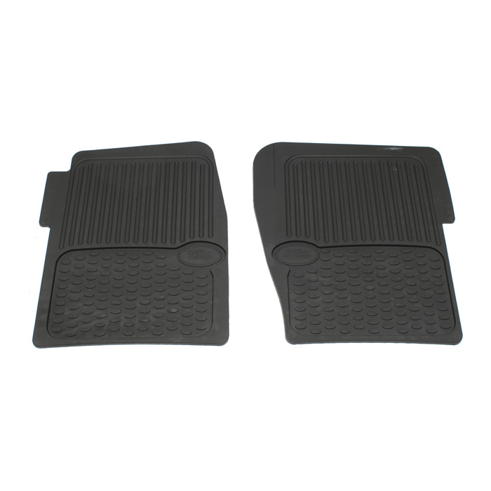 GENUINE RUBBER FLOOR MATS - FRONT PAIR  DISCOVERY II