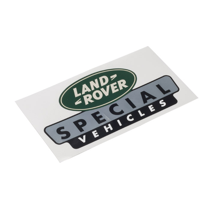 """LAND ROVER SPECIAL VEHICLES STICKER 7 1/2"""" X 4"""""""