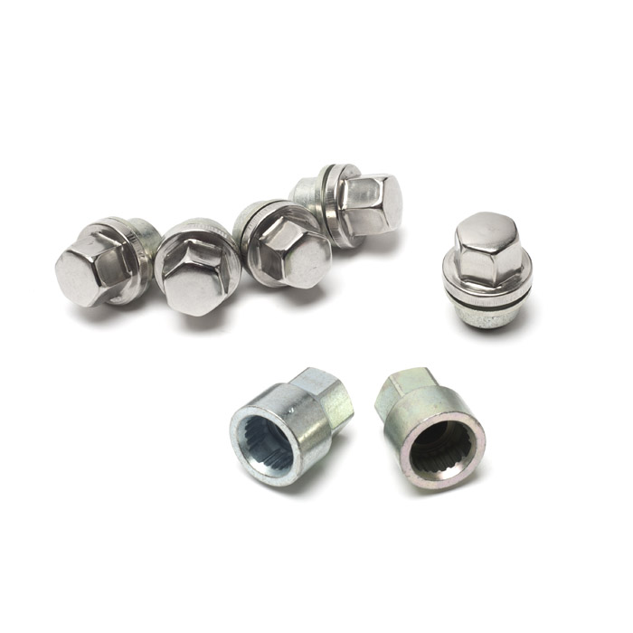 LOCKING WHEEL NUTS SET OF 5 FOR ALLOY WHEELS