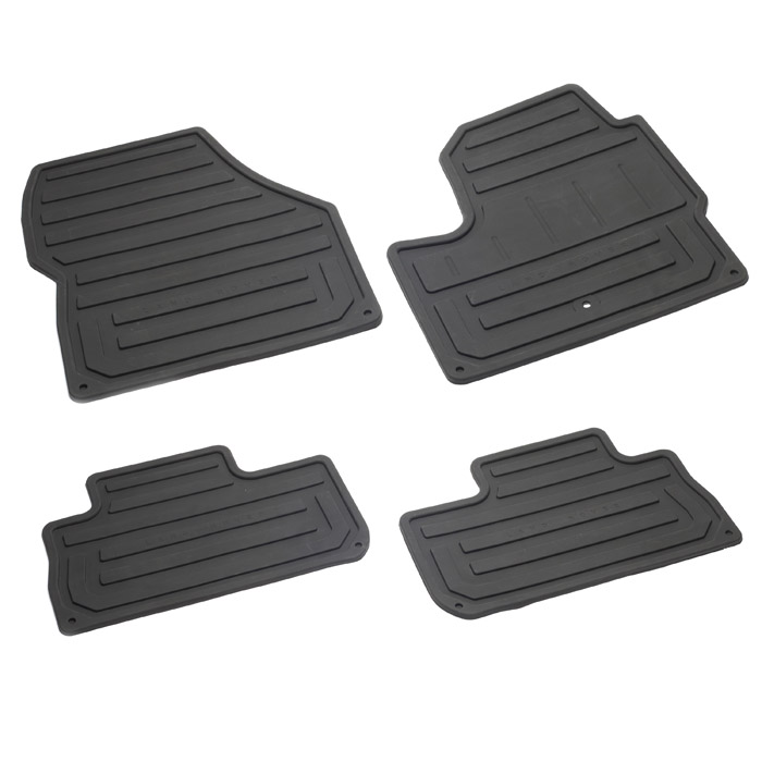 RUBBER FLOOR MAT SET - FRONT AND MIDDLE LR2
