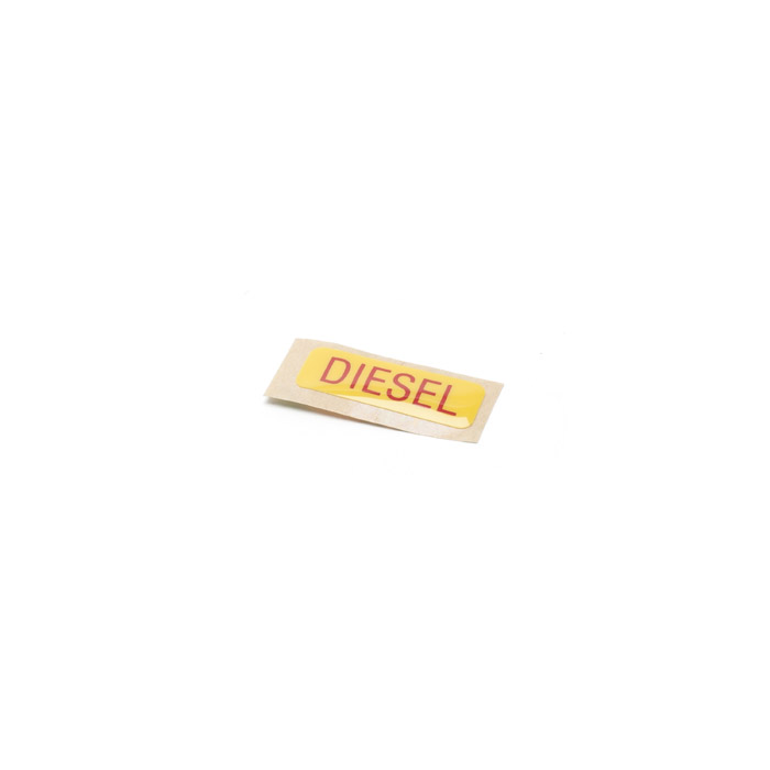"DECAL ""DIESEL"" DEFENDER FUEL FILLER"